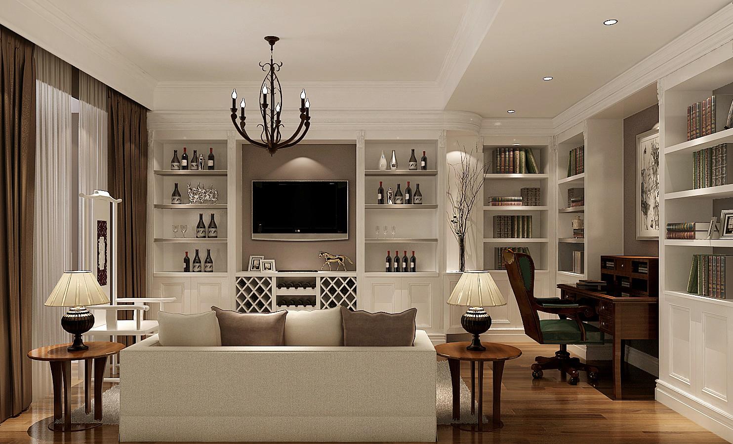 简约 美式 高度国际 时尚 公寓 白领 80后 白富美 温馨 客厅图片来自北京高度国际装饰设计在果岭Class美式简约幸福之家的分享