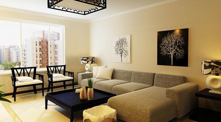 武汉实创 幸福时代 简约 三居 文艺青年 客厅图片来自静夜思在幸福时代/温暖的色调的分享