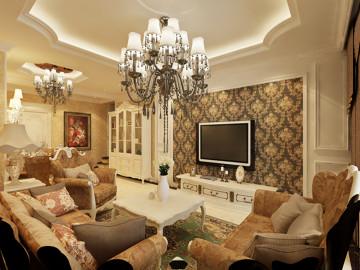 保利拉菲公馆-欧式风格-三居室