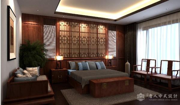 中式卧室背景