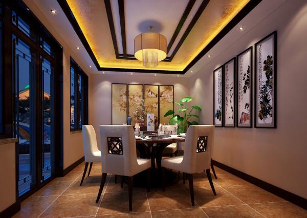餐厅里花格门的运用适可而止,让平白的空间气韵生动;细节不在多而在奇妙,便能以少胜多,起到画龙点睛的效果。