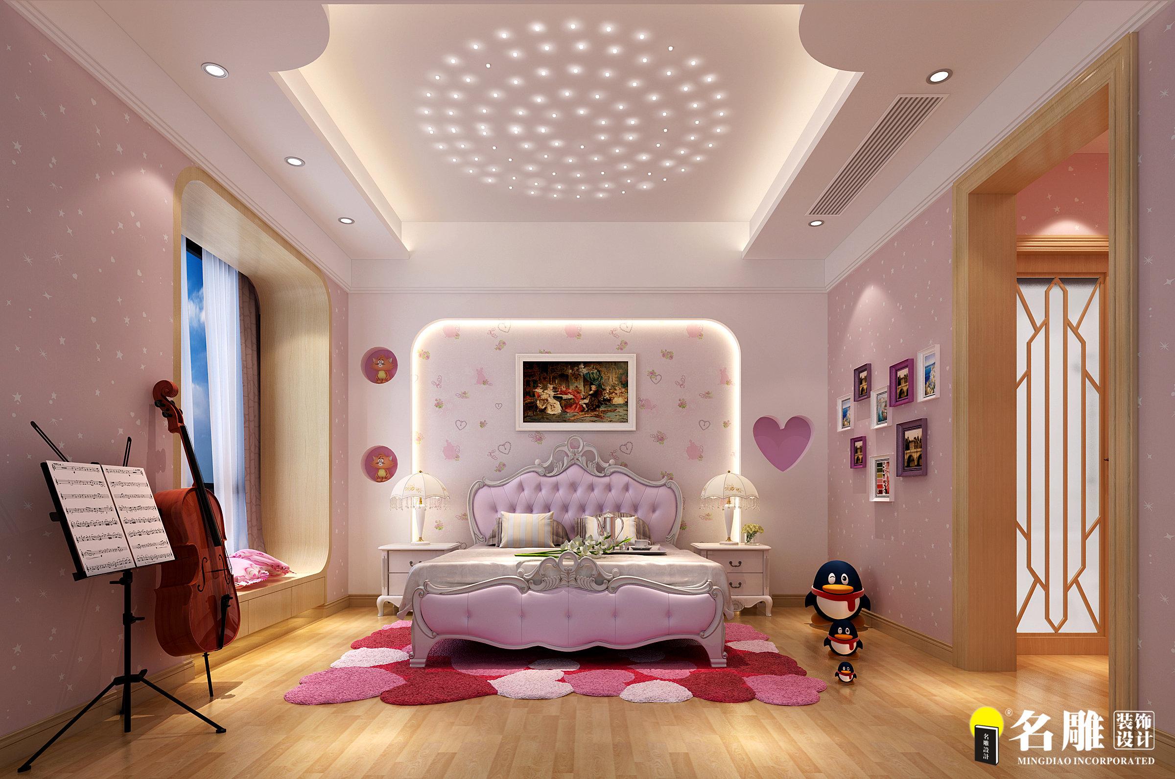 现代奢华 现代 平层 三代同堂房 保利国际 顶级住宅 公主房 儿童房图片来自名雕装饰设计在现代奢华演绎幸福三代同堂生活的分享