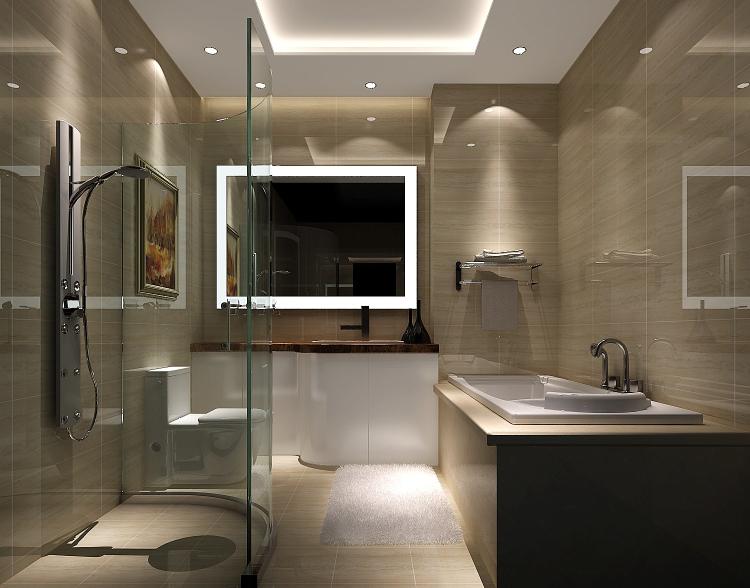 卫生间图片来自沙漠雪雨在上林世家14.1万现代简约公寓的分享