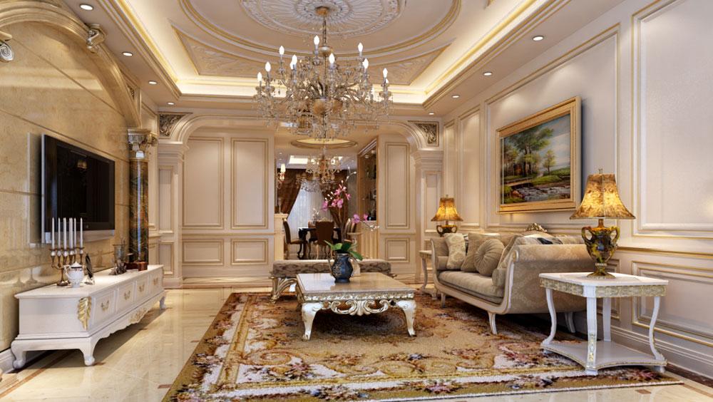 紫金长安 四居室 法式风格gd 装修设计 客厅图片来自高度国际装饰宋增会在紫金长安 法式风格的分享