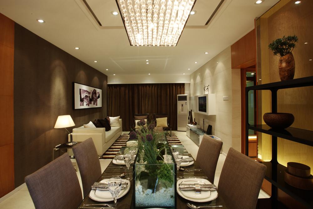 餐厅图片来自潍坊万泰装饰在港式风情画 180平现代奢华港式的分享