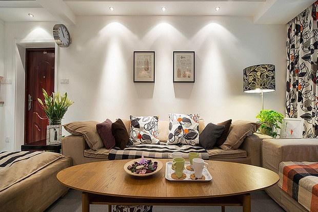 客厅图片来自家装大管家在69平宜家控北欧简约现代混搭设计的分享