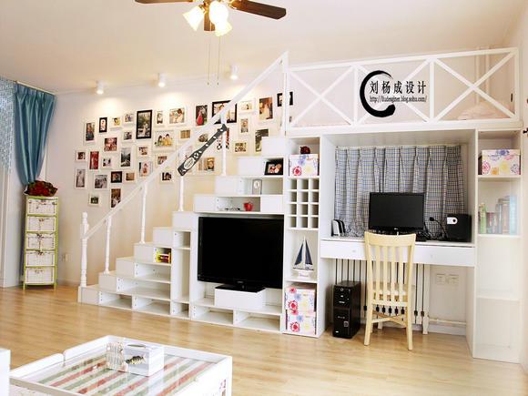 简约 白领 收纳 旧房改造 80后 小资 客厅图片来自实创装饰百灵在梦回爱琴海老房改造的分享
