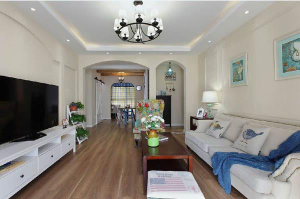 金地朗悦三居室户型客厅效果图展示