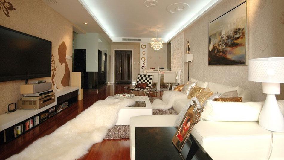 西华府 两居室 现代简约 高度国际 装修设计 客厅图片来自高度国际装饰宋增会在西华府 现代简约的分享