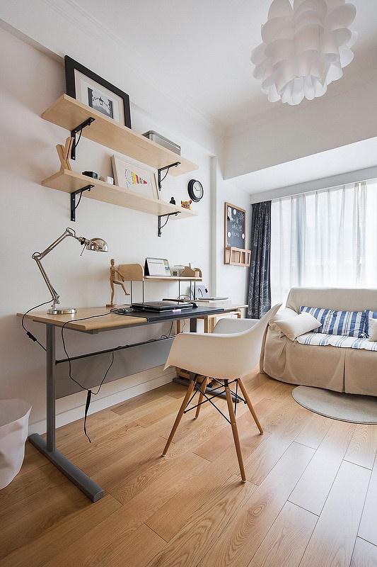 宜家 北欧 二居 小资 书房图片来自家装大管家在69平宜家控北欧简约现代混搭设计的分享