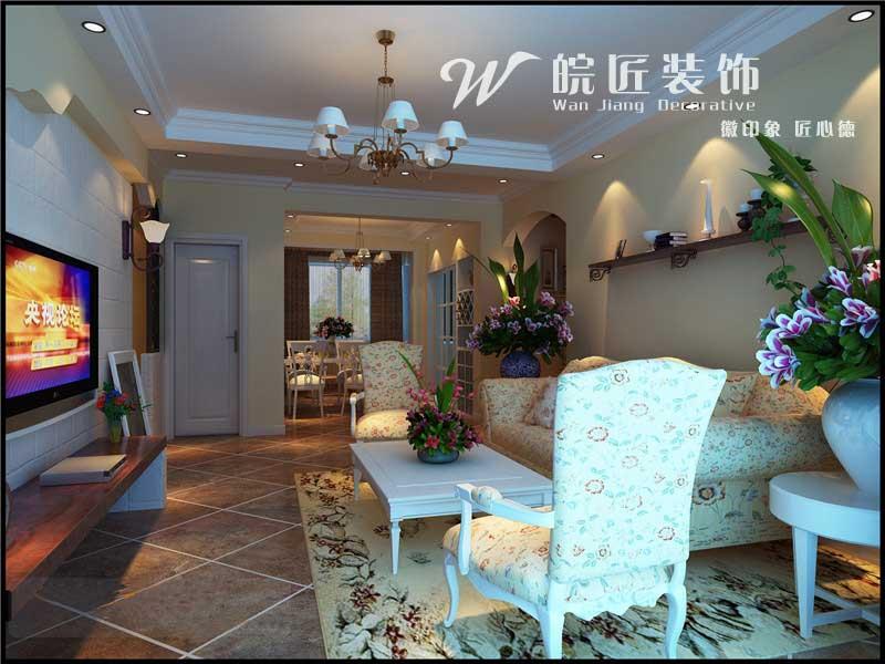 田园 二居 客厅图片来自合肥皖匠装饰朱兴美在信达西山银杏-田园风-两居室的分享