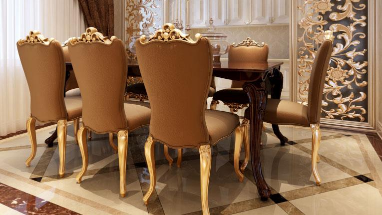 紫金长安 四居室 法式风格gd 装修设计 餐厅图片来自高度国际装饰宋增会在紫金长安 法式风格的分享