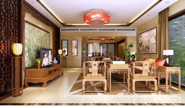 中式客厅效果图