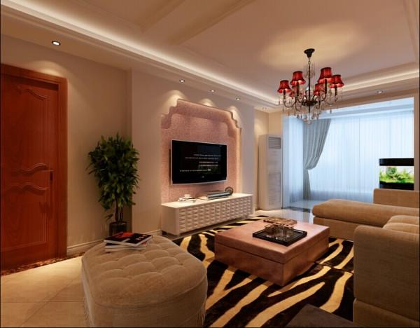设计后的客厅效果图