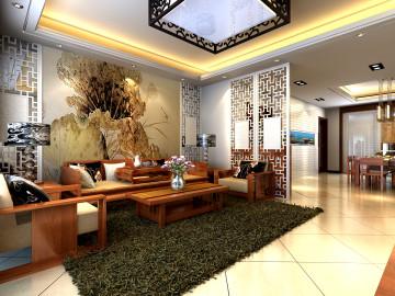 四居室中式雅居装修效果图