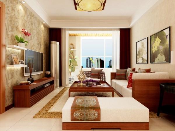 客厅以大气优雅为主,木制半透明的推拉门与墙面木装饰的装饰造型,以冷静线条分割空间,代替一切繁杂与装饰。设计以不矫揉造作的材料营造出豪华感,使人感到既创新独特又似曾相识的生活居所。