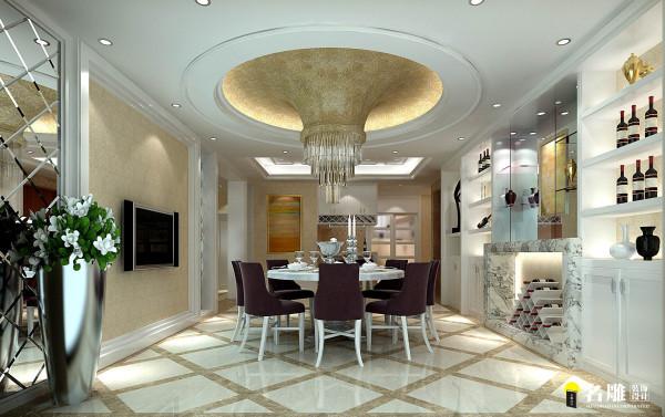 现代奢华餐厅:低调奢华风格强调以现代与古典并重的设计原则,装修中强调现代设计手法,通过餐桌、餐椅的温馨舒适和精致典雅来体现现代奢华餐厅的氛围。