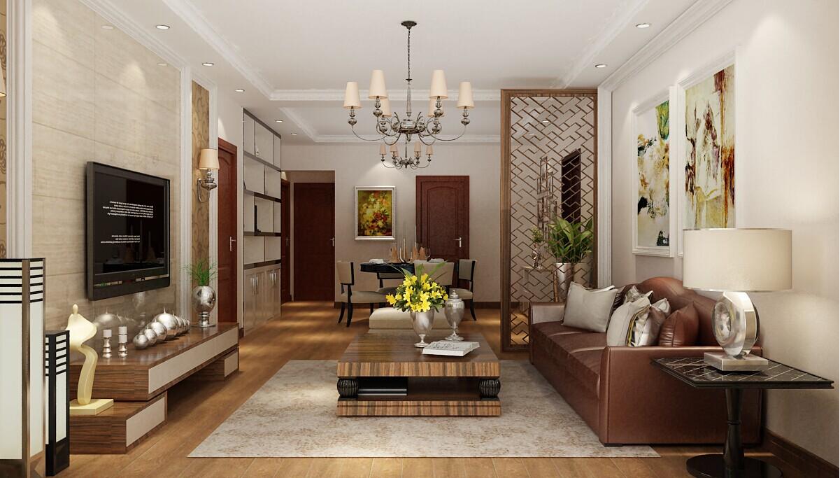 客厅图片来自大业美家装饰在铭轩国际123平混搭三居室装修的分享
