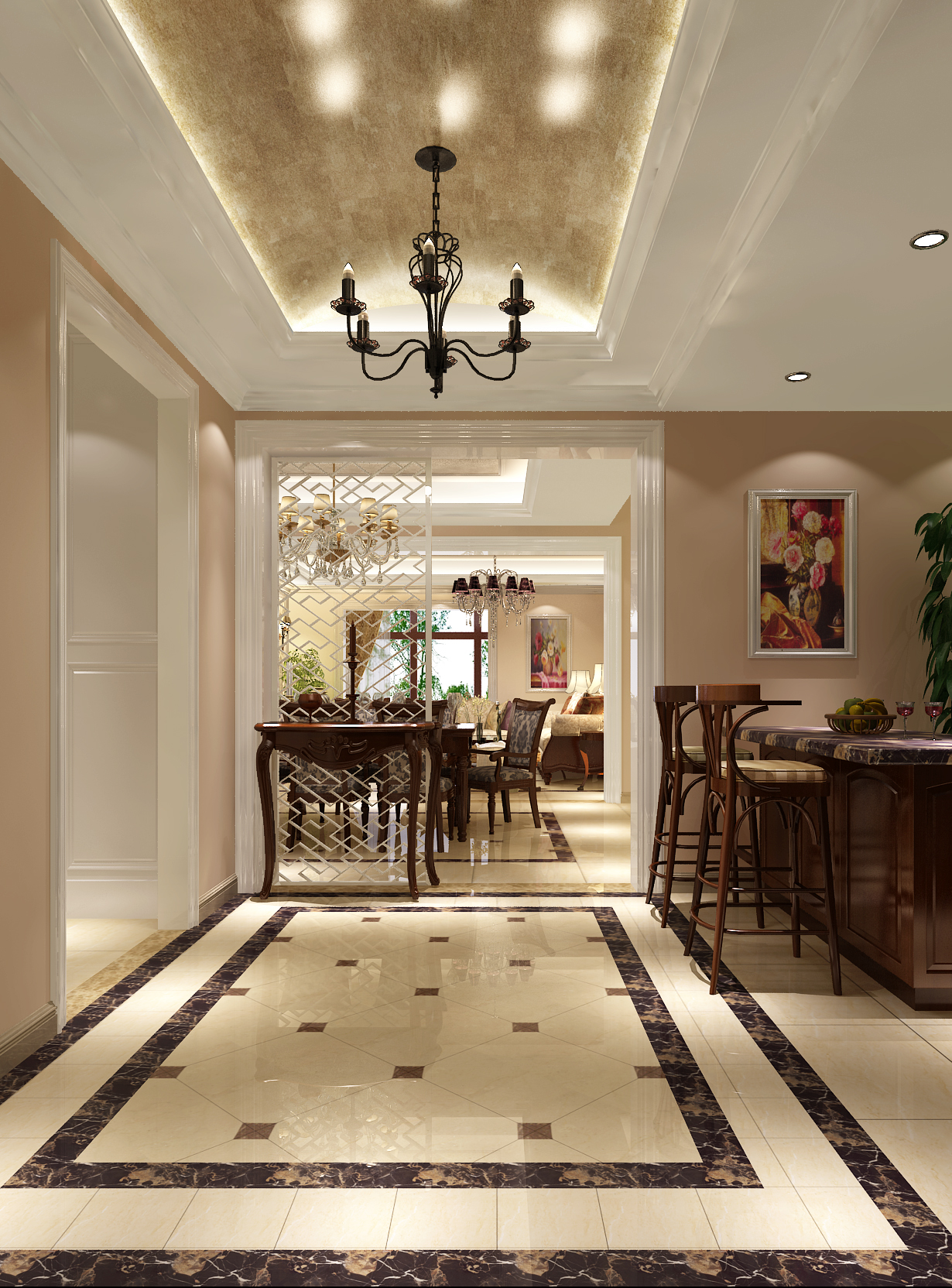 简约 田园 三居 二居 白领 80后 白富美 时尚 高度国际 楼梯图片来自北京高度国际装饰设计在5.1万打造中粮祥云田园风的分享