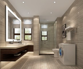 简约 三居 白领 现代 白富美 时尚 高度国际 80后 中信新城 卫生间图片来自北京高度国际装饰设计在中信新城浪漫极简的分享