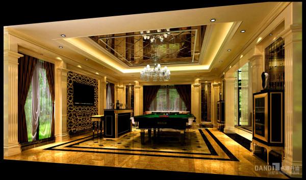 名雕丹迪别墅装饰设计-远洋城别墅欧式一层休闲厅