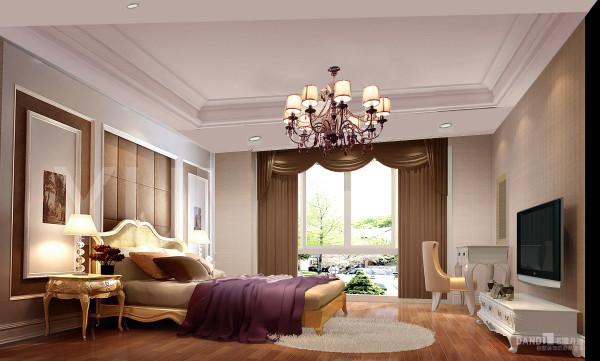 名雕丹迪设计美式自建别墅卧室
