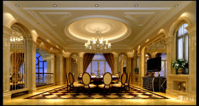 欧式 别墅 高富帅 高档别墅 别墅装修 远洋城别墅 餐厅 餐厅图片来自名雕丹迪在远洋城800平奢华高档别墅装饰的分享