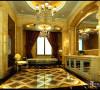 名雕丹迪别墅装饰设计-远洋城别墅欧式一层过厅