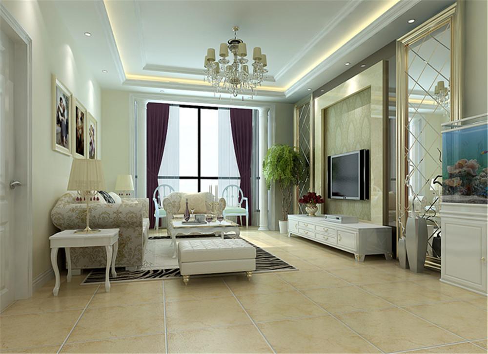 简约 欧式 四居 客厅图片来自实创装饰晶晶在让人充满向往的简欧风格的分享