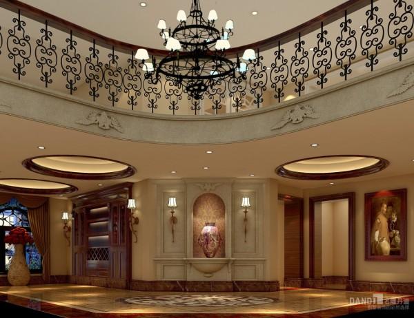 名雕丹迪设计美式自建别墅玄关