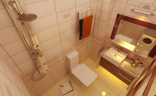 卫生间整体空间较小,设计师对卫生间的做了合理规划,使得有限的空间显得有序而不拥挤。