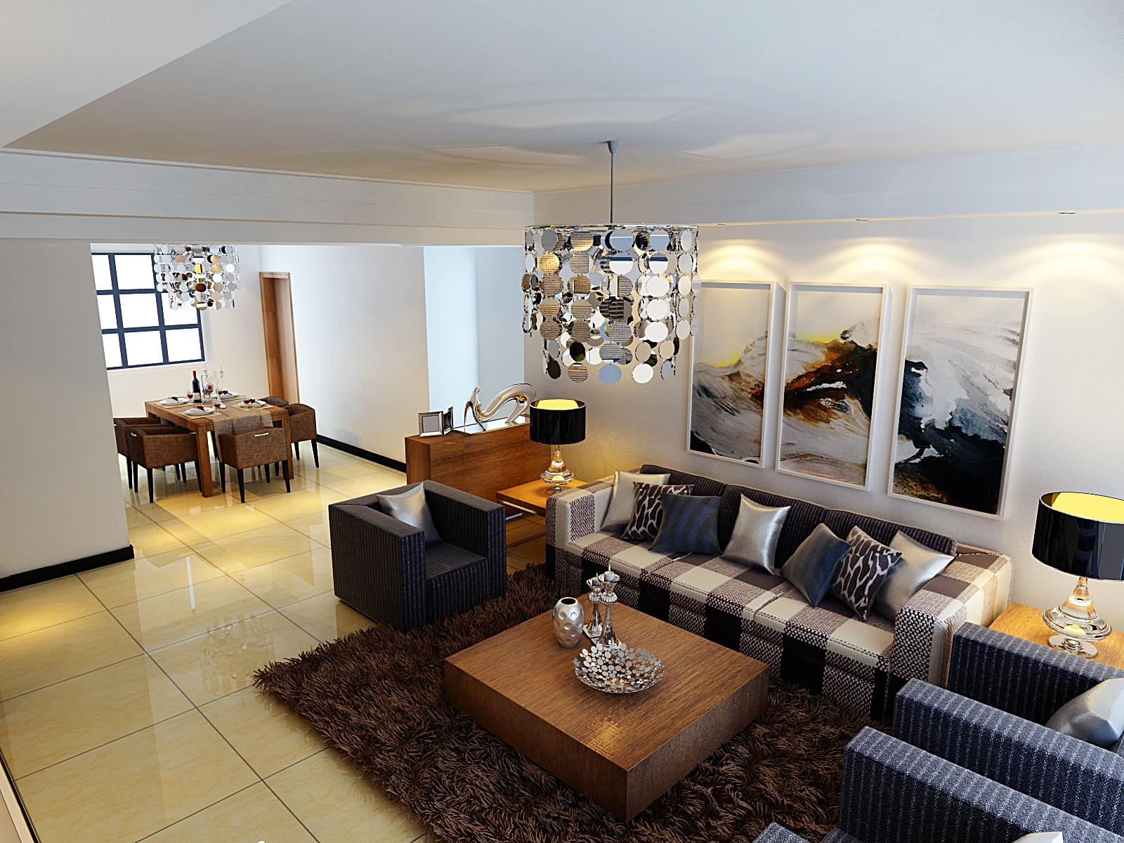 普罗旺世 业之峰装饰 效果图 80后 小资 三居 现代 客厅图片来自文金春在现代时尚家居空间的分享