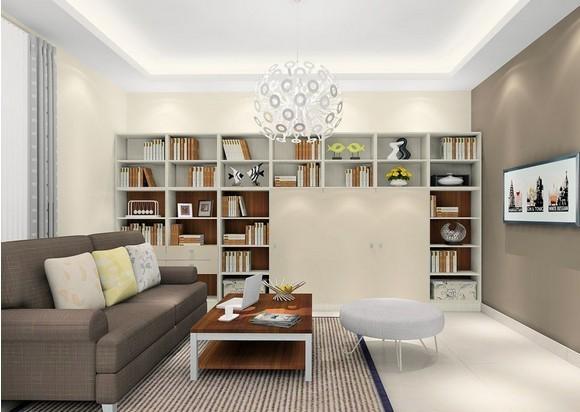 简约的书房,就像爱哲学的头脑,喜欢把事物化繁为简。