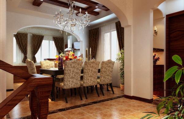 : 美式家居的卧室布置较为温馨, 作为主人的私密空间, 主要以功能性和实用舒适为考虑的重点, 一般的卧室不设顶灯,多用温馨柔软的成套布艺来装点,同时在软装和用色上非常统一