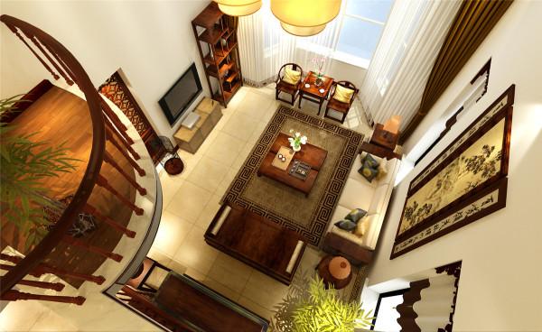 中国风的构成主要体现在传统家具(多为明清家具为主)、装饰品及黑、红为主的装饰色彩上。室内多采用对称式的布局方式,格调高雅,造型简朴优美