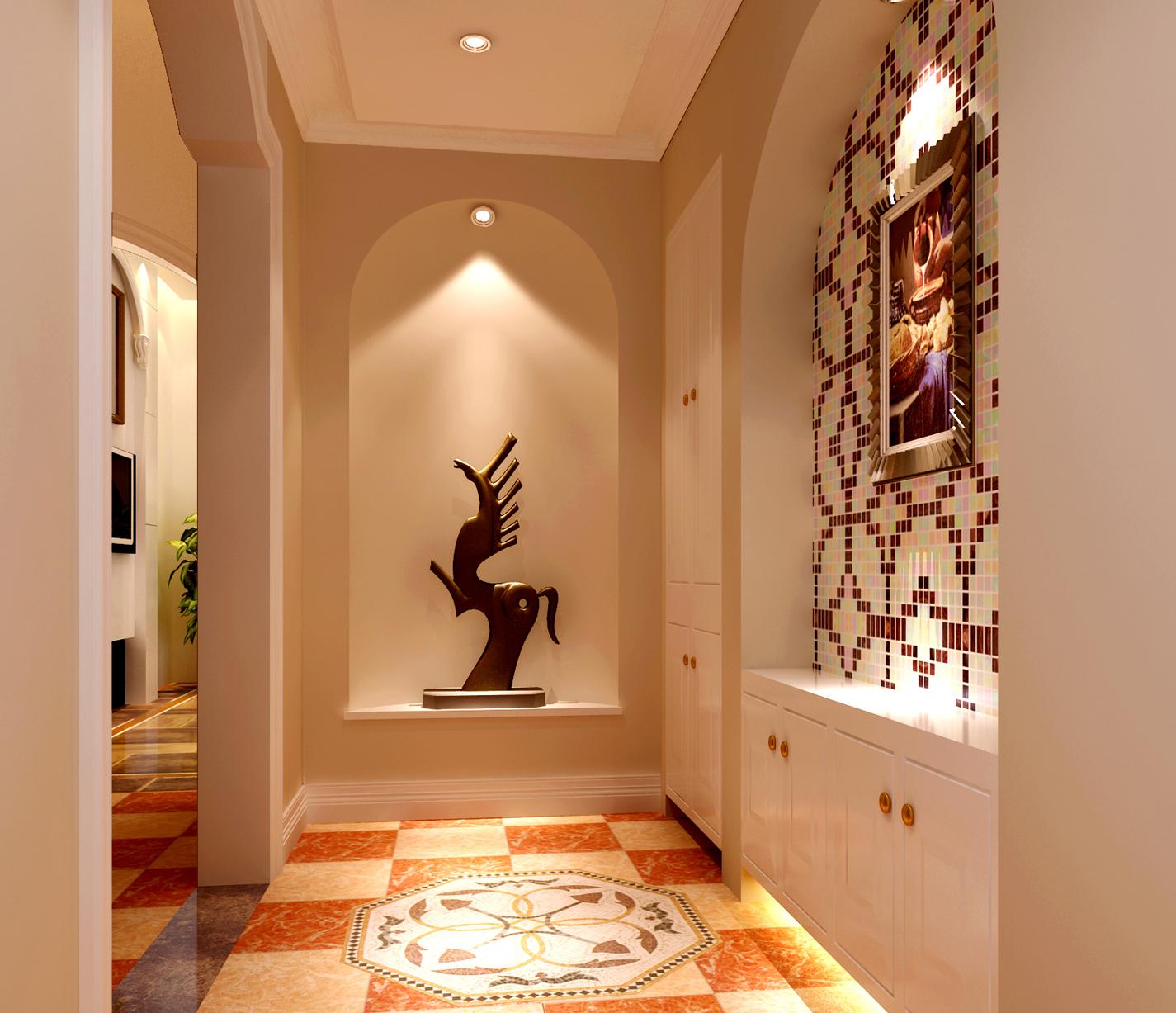 高度国际 欧式 别墅 玄关图片来自高度国际在32w打造奢华欧式风天竺新新家园的分享