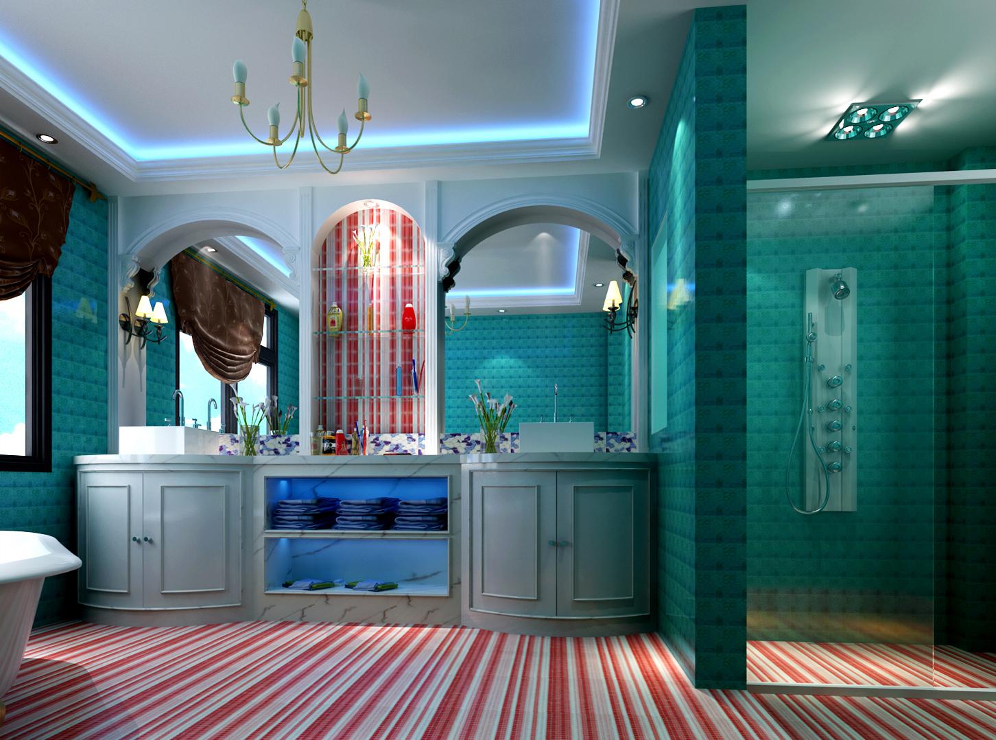 高度国际 欧式 别墅 卫生间图片来自高度国际在32w打造奢华欧式风天竺新新家园的分享