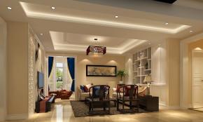 简约 中式 高度国际 K2百合湾 三居 白领 80后 白富美 时尚 客厅图片来自北京高度国际装饰设计在K2百合湾中式公寓的分享
