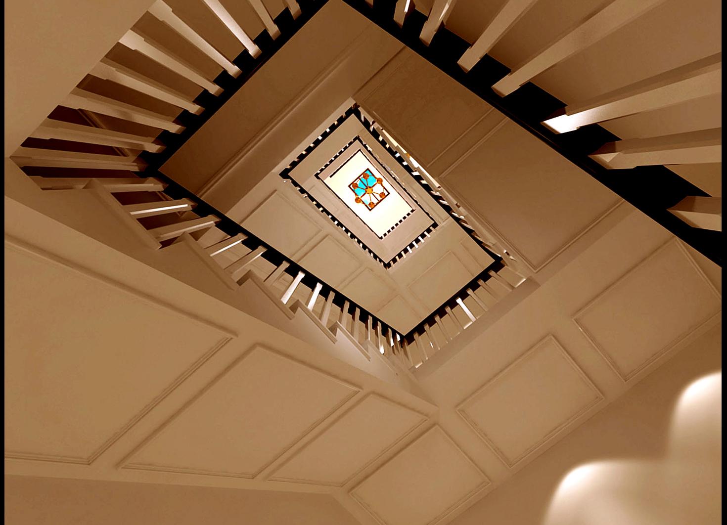 高度国际 欧式 别墅 楼梯图片来自高度国际在32w打造奢华欧式风天竺新新家园的分享