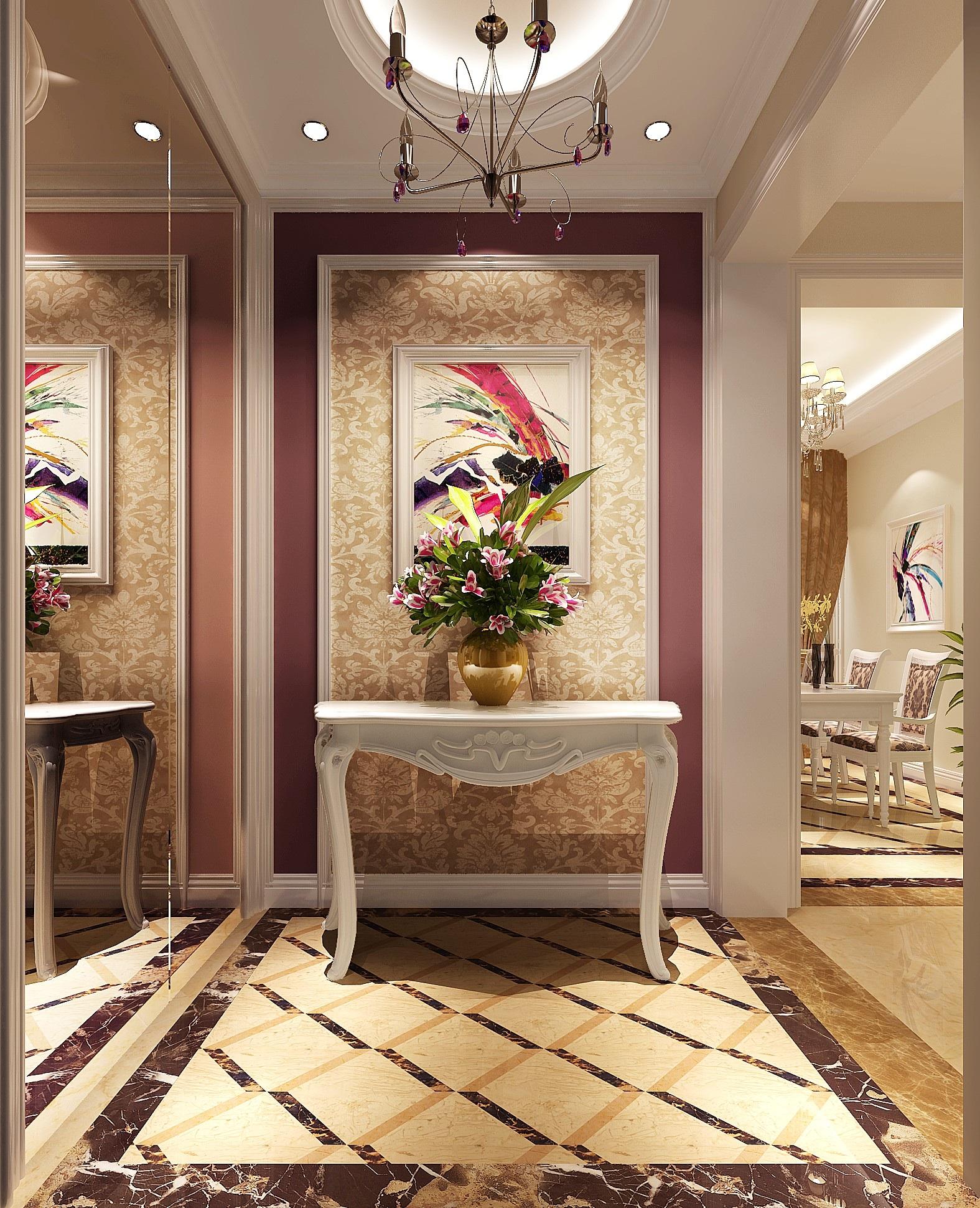 简约 欧式 二居 白领 80后 小资 白富美 小清新 高度国际 玄关图片来自北京高度国际装饰设计在K2百合湾80平小清新的分享