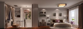 现代 简约 高度国际 时尚 二居 80后 白领 Loft 白富美 书房图片来自北京高度国际装饰设计在K2百合湾40平极致Loft的分享