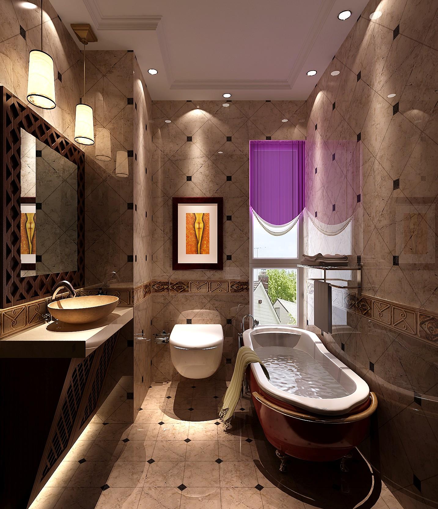 高度国际 混搭 三居 白领 80后 卫生间图片来自高度国际在8.5w打造个性中泰混搭 风格的分享