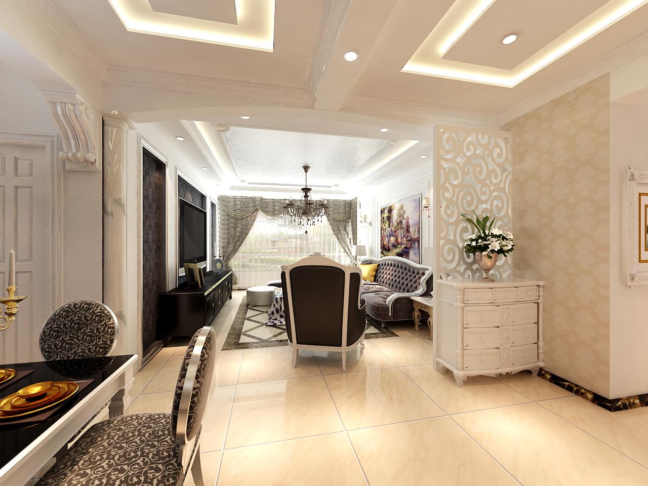 客厅图片来自晋级装饰小金在现代奢华137平的分享