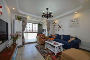 二居 地中海 83平 婚房 小清新 客厅图片来自孙进进在83平地中海小清新婚房有爱一家人的分享