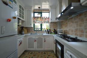 二居 地中海 83平 婚房 小清新 厨房图片来自孙进进在83平地中海小清新婚房有爱一家人的分享