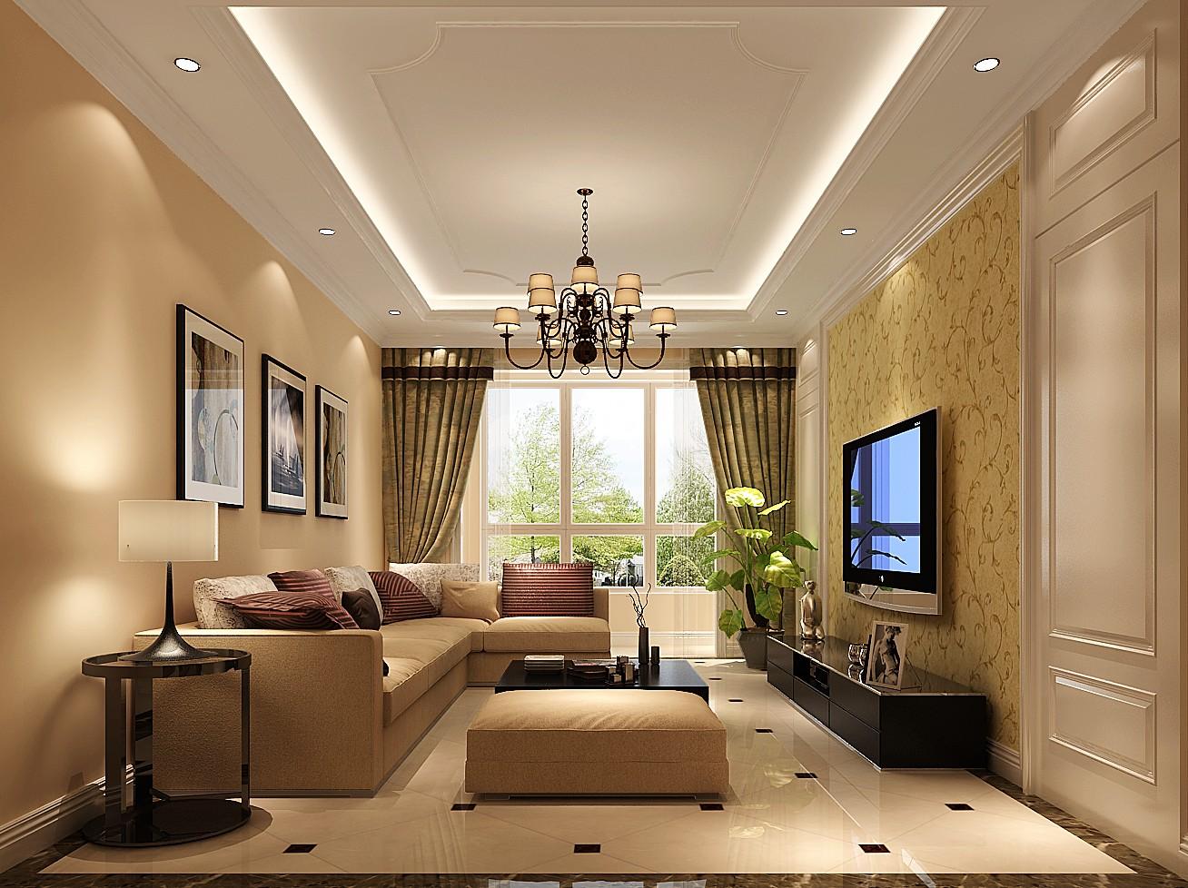 简约 欧式 二居 白领 80后 小资 白富美 小清新 高度国际 客厅图片来自北京高度国际装饰设计在K2百合湾80平小清新的分享
