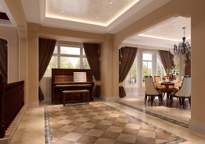 高度国际 新新家园 白富美 时尚 别墅 白领 80后 欧式 田园 餐厅图片来自北京高度国际装饰设计在天竺新新家园400平托斯卡纳别墅的分享