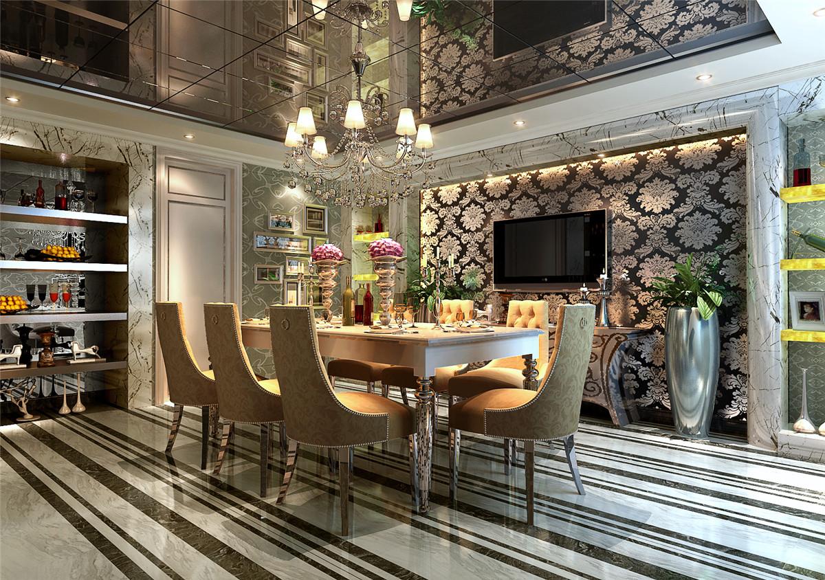 欧式 简约 现代 别墅 奥邦装饰 韦青华 餐厅图片来自上海奥邦装饰在上海博园岚郡别墅户型欧式风格的分享