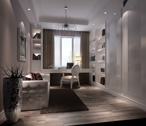 简约 欧式 托斯卡纳 高度国际 时尚 鲁能7号院 白富美 三居 80后 书房图片来自北京高度国际装饰设计在鲁能7号院140平托斯卡纳公寓的分享