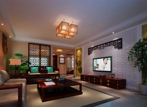 地下一层多功能客厅.设计理念 :用文化墙做为影视墙的背景,配上中式的花鸟字画,更能体现一种文化氛围,灯光以暖黄色采光为主,在高贵典雅中还透露出家庭的温馨。